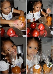 It's Snack Time! Caramel Apple Favors