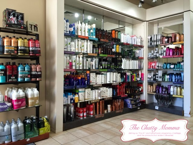 The Chatty Momma Hair Cuttery Experience Product Display