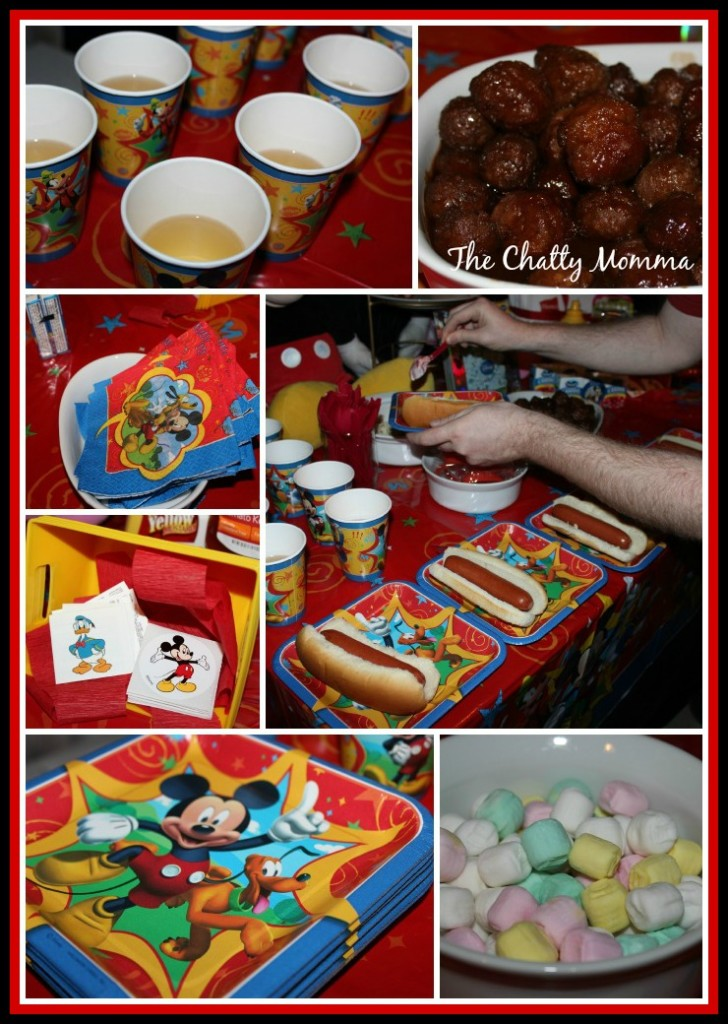 Showing our disneyside with a mickey mouse clubhouse themed party the chatty momma for Cuisine 728