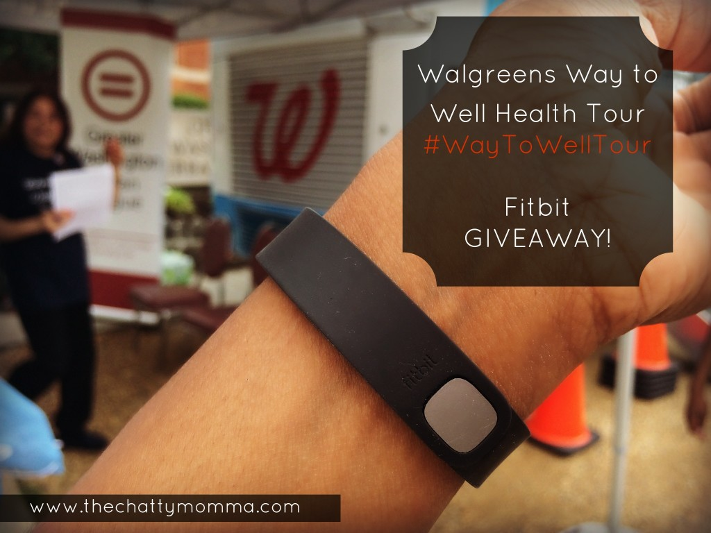 The Chatty Momma Walgreens Way to Well Health Tour Fitbit Giveaway