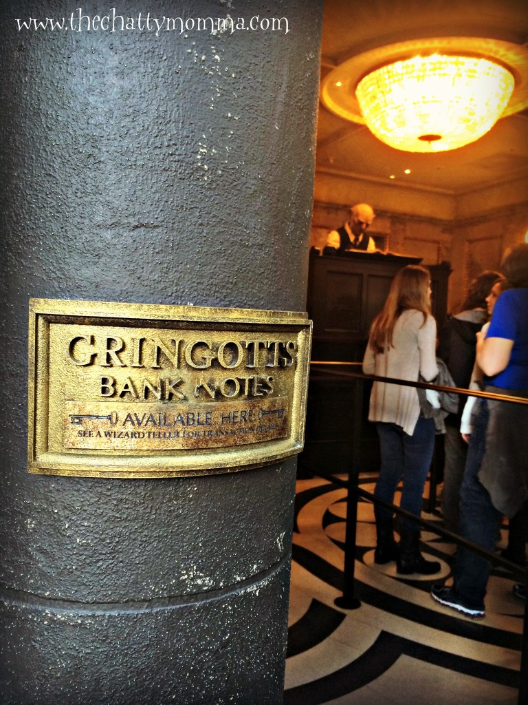 The Chatty Momma Harry Potter Celebration Gringotts Money Exchange Universal Orlando 1 #HPCelebration