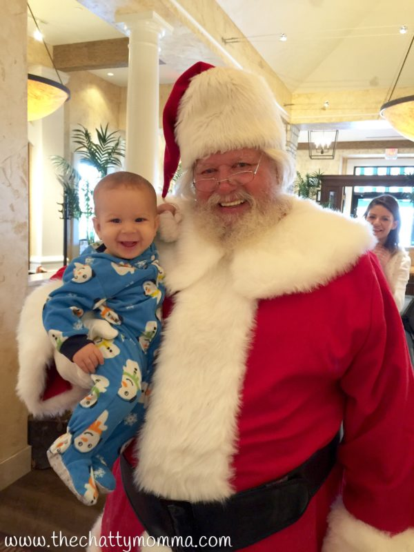 The Chatty Momma Santa's Flight Academy Baby Meets Santa