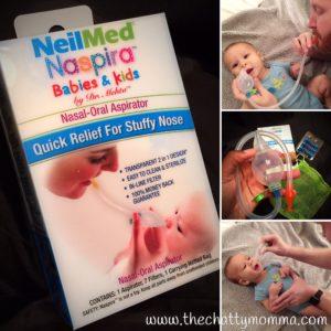 Say Goodbye to Baby's Stuffy Nose with NeilMed Naspira Nasal-Oral Aspirator