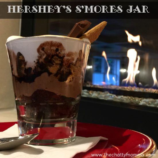 The Chatty Momma Hershey's S'mores Jar by the fire