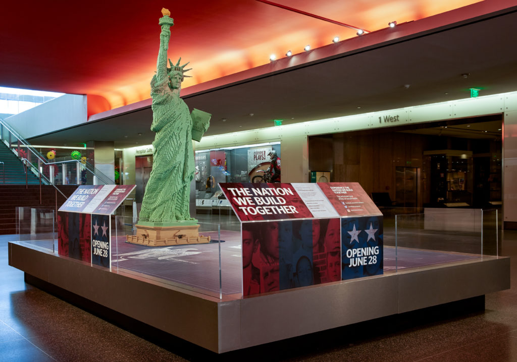 See the LEGO Statue of Liberty at the Smithsonian National Museum of American History