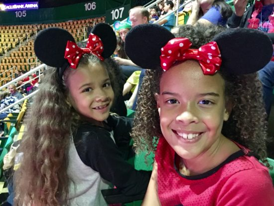 The Chatty Momma Disney on Ice Presents Dare to Dream - Girls in their seats