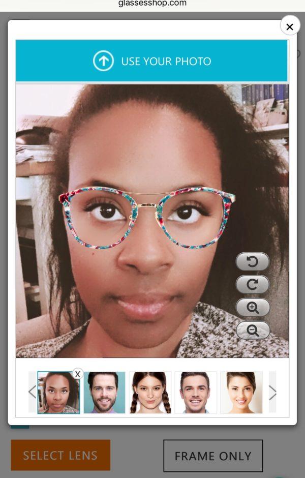 The Chatty Momma GlassesShop Online Eyeglasses Try On Model