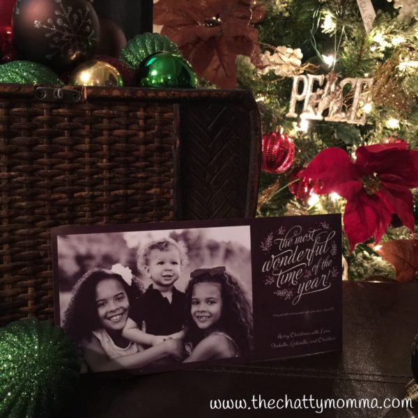 The Chatty Momma Hallmark How to Order Personalized Holiday Greeting Cards Kids