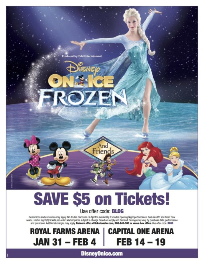 The Chatty Momma Disney on Ice Presents Frozen Discount Flyer